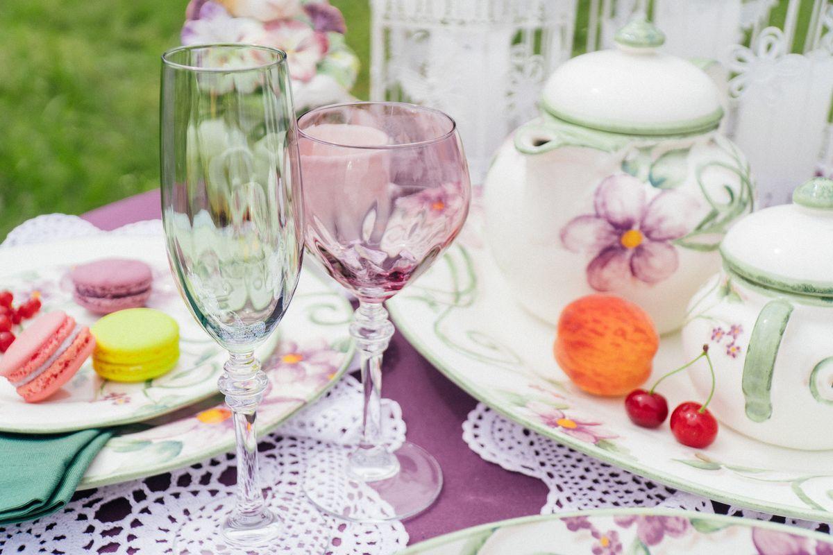 Набор разноцветных бокалов Villa Grazia для вина, 6 шт  - фото