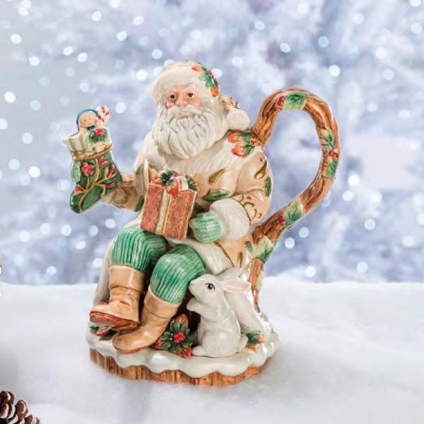 """Керамические декоры """"Добрый Санта"""" для Нового Года  - фото"""