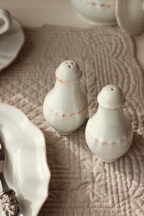 Набор емкостей для соли и перца из керамики Impressions  - фото