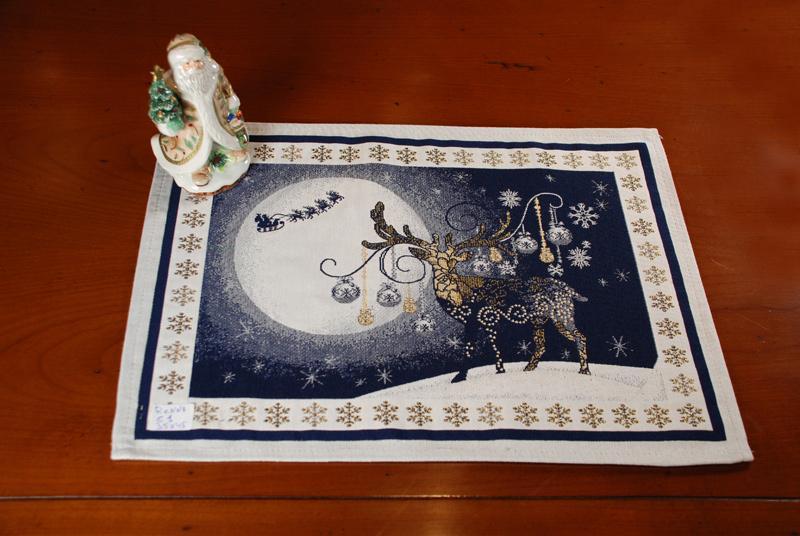 """Гобеленовая салфетка с рисунком """"Северное сияние""""   - фото"""