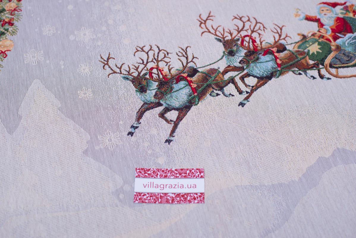 """Новогодние скатерти из гобелена коллекции """"Подарки""""  - фото"""