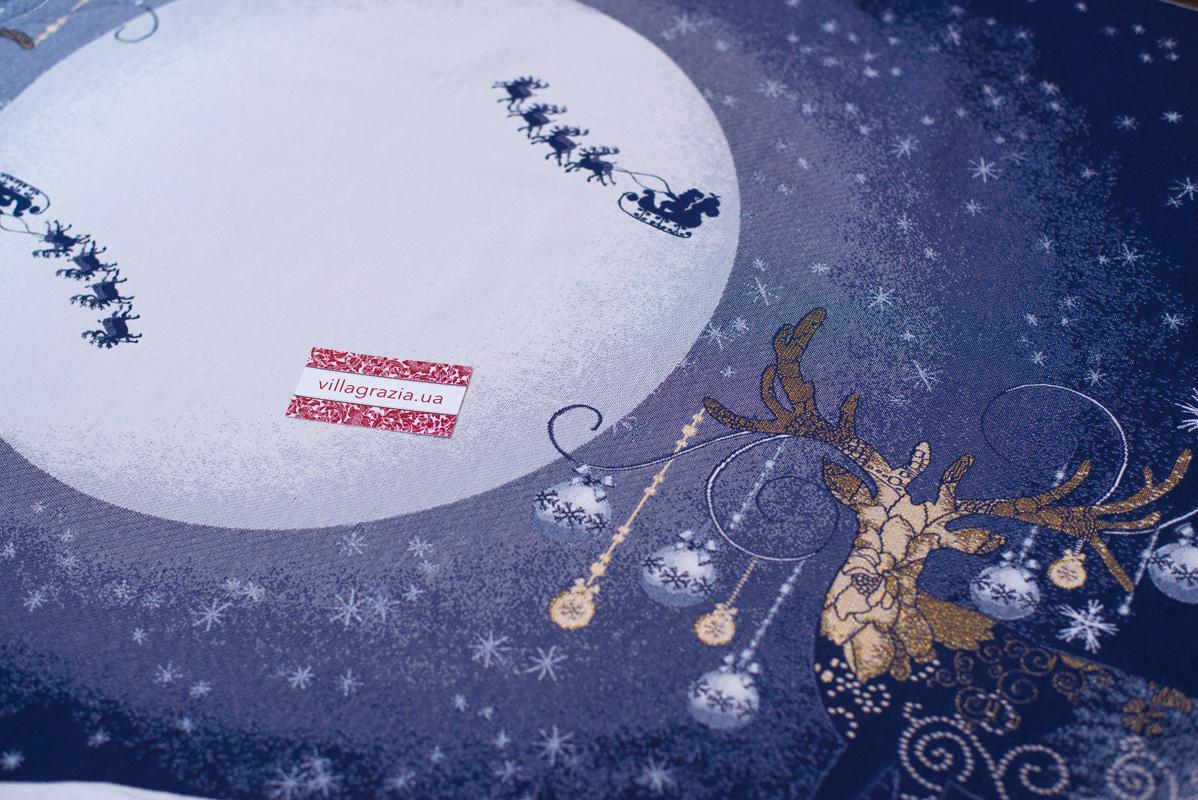 """Гобеленовые скатерти новогодней тематики с люрексом  """"Северное сияние""""  - фото"""
