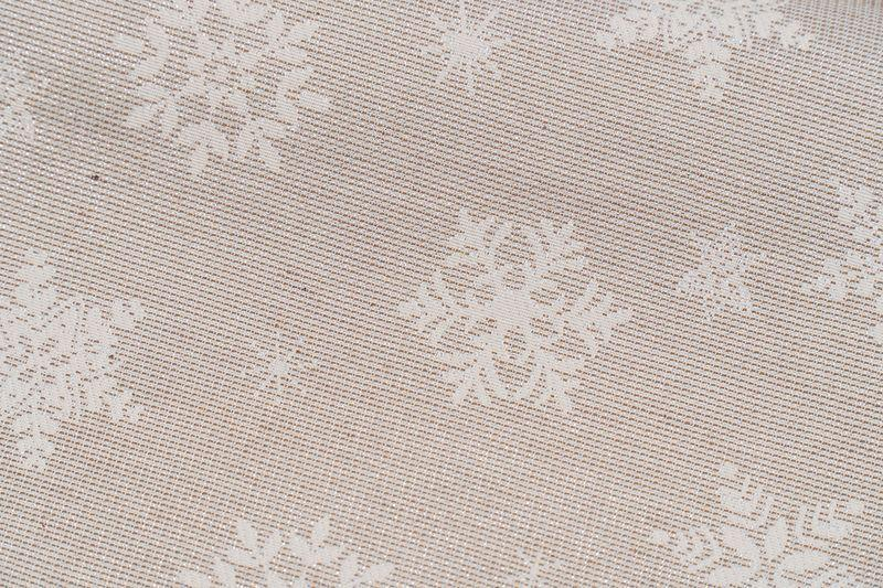 """Серебристый раннер с белым орнаментом """"Снежинки"""" Villa Grazia Premium  - фото"""