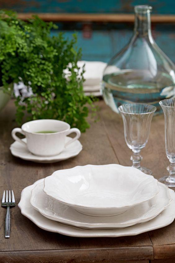 Белые тарелки, набор 6 шт Impressions Costa Nova  - фото