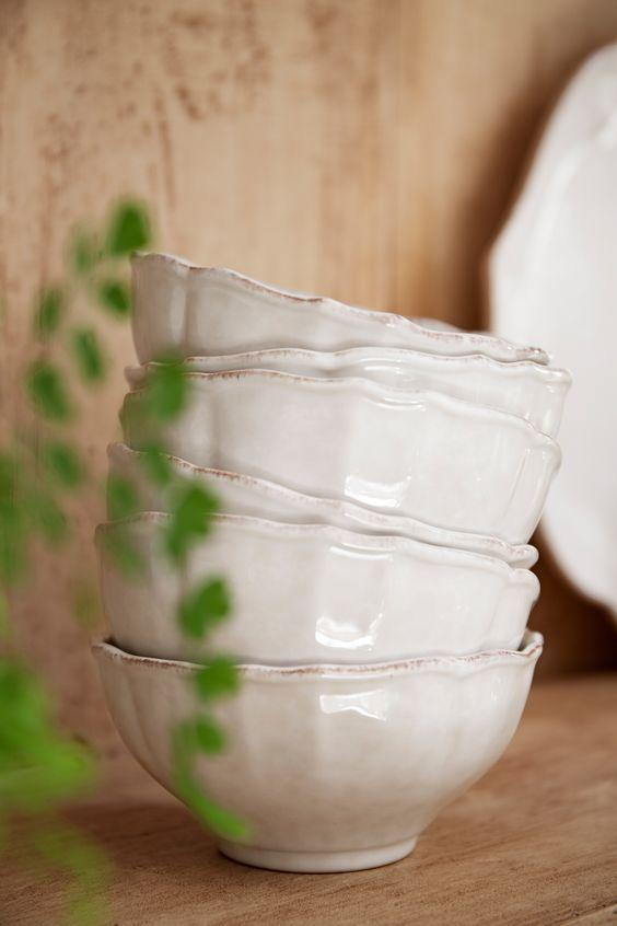 Белая пиала из прочной огнеупорной керамики Impressions  - фото