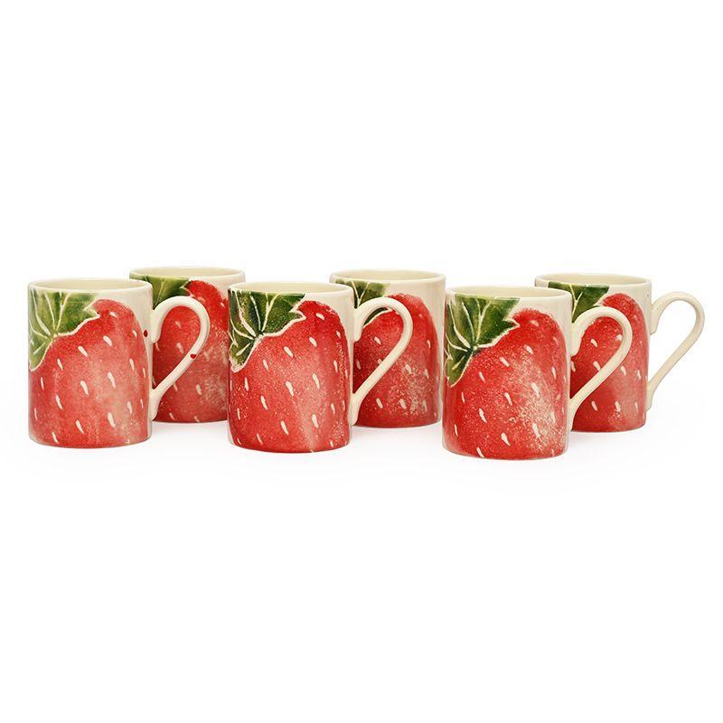 """Чашка чайная с акварельным рисунком """"Фруктовый коктейль""""  - фото"""