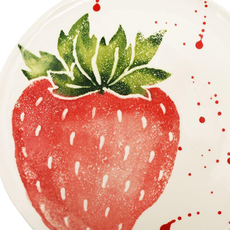 """Тарелка десертная с рисунком клубники """"Фруктовый коктейль""""  - фото"""