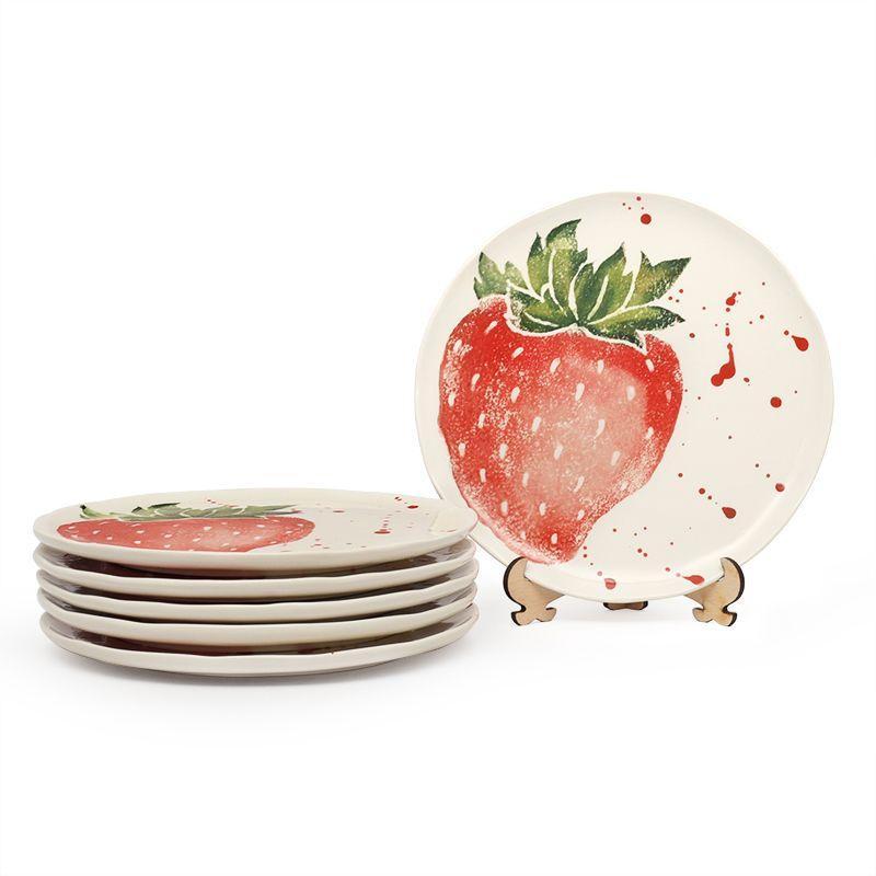 """Комплект из 4-х десертных тарелок """"Фруктовый коктейль""""  - фото"""