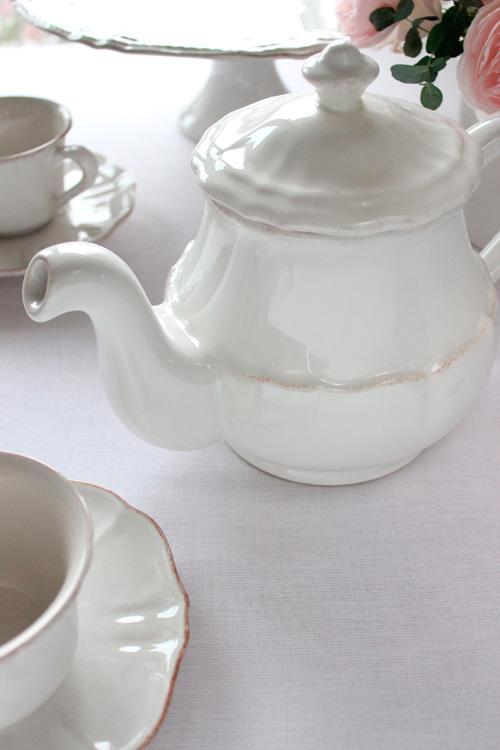 Белый заварник для чая Impressions  - фото
