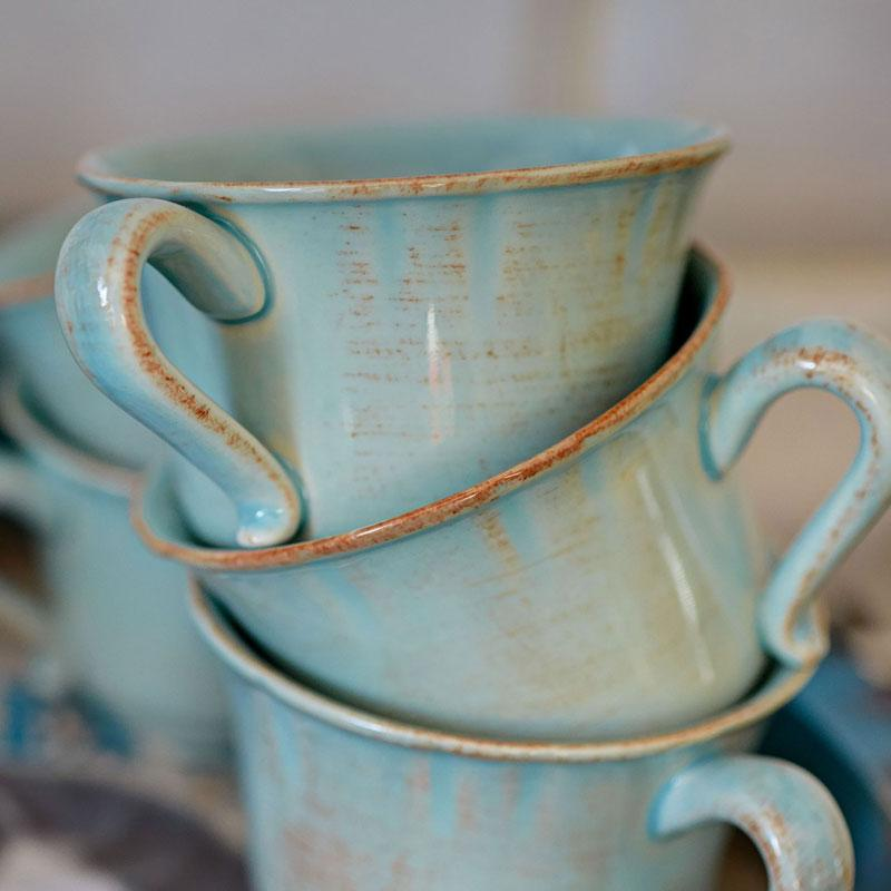 Чайная чашка с блюдцем из огнеупорной керамики Alentejo  - фото