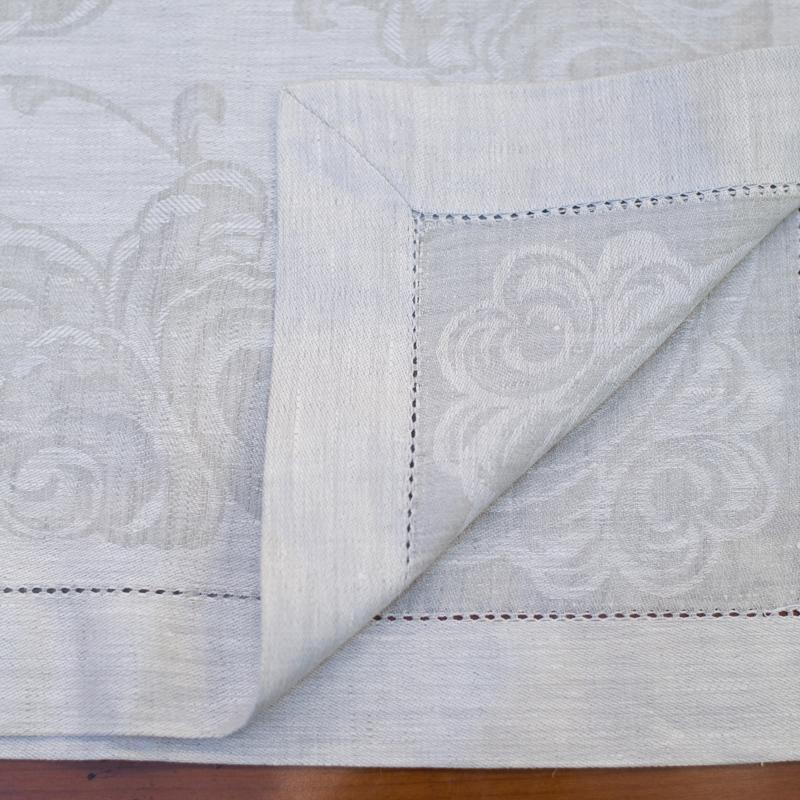 Скатерть льняная серая Ondas  - фото