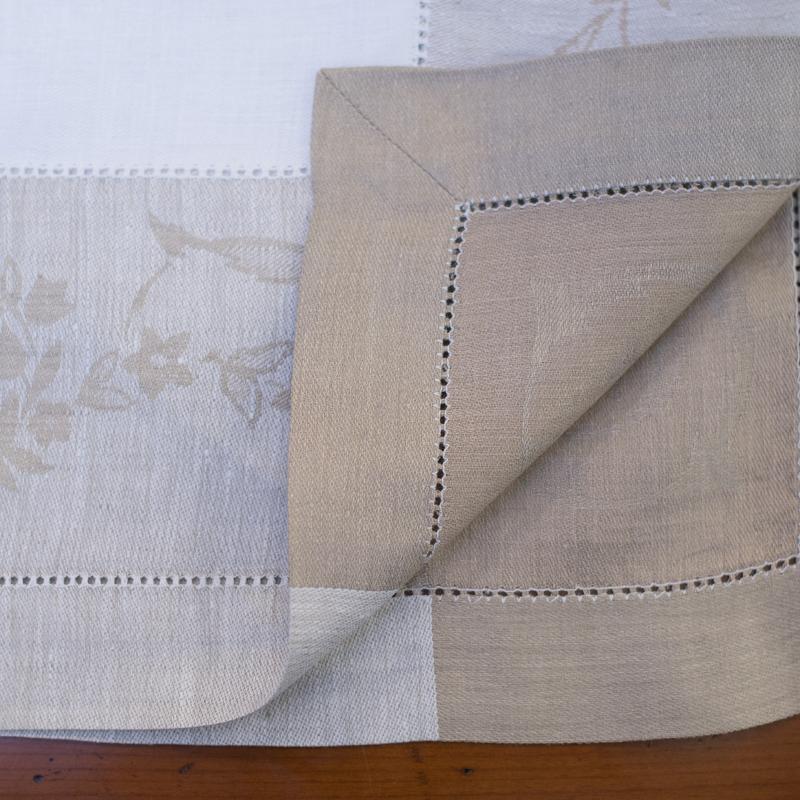Скатерть прямоугольная 100% лен  - фото