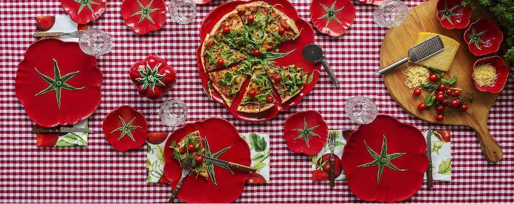 Блюдо для пиццы Bordallo Томат 42 см  - фото