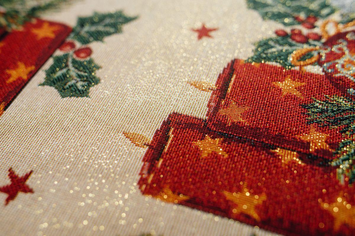 """Салфетка из новогоднего гобелена с люрексом """"Праздник при свечах"""" Villa Grazia  - фото"""