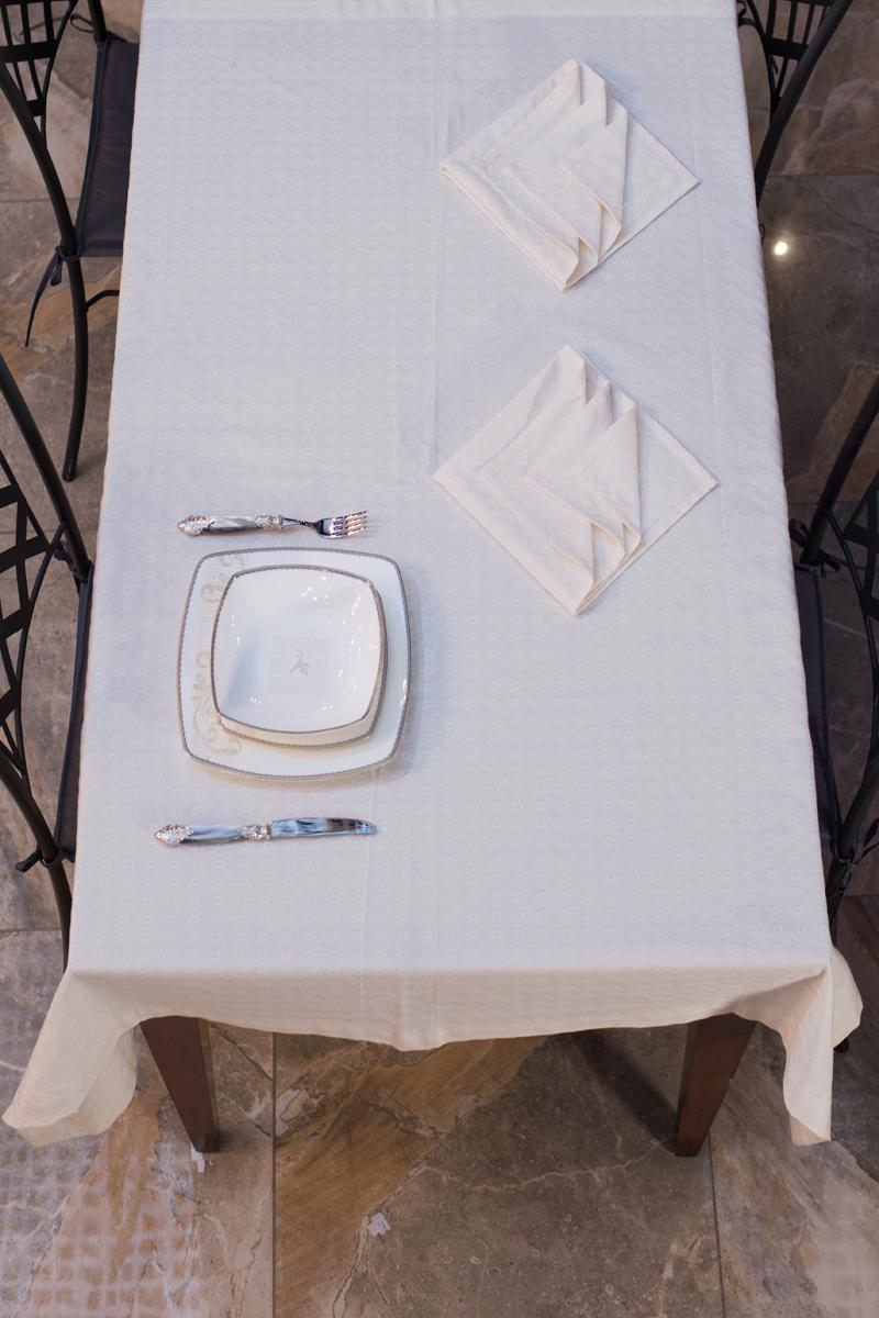 Скатерть и 6 салфеток Fiorellino Bossio  - фото