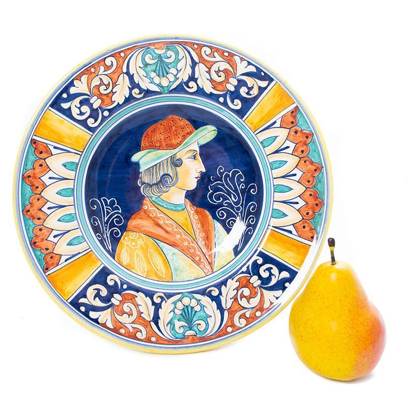 Декоративная тарелка с ручной росписью в старинном стиле Museo Plate  - фото