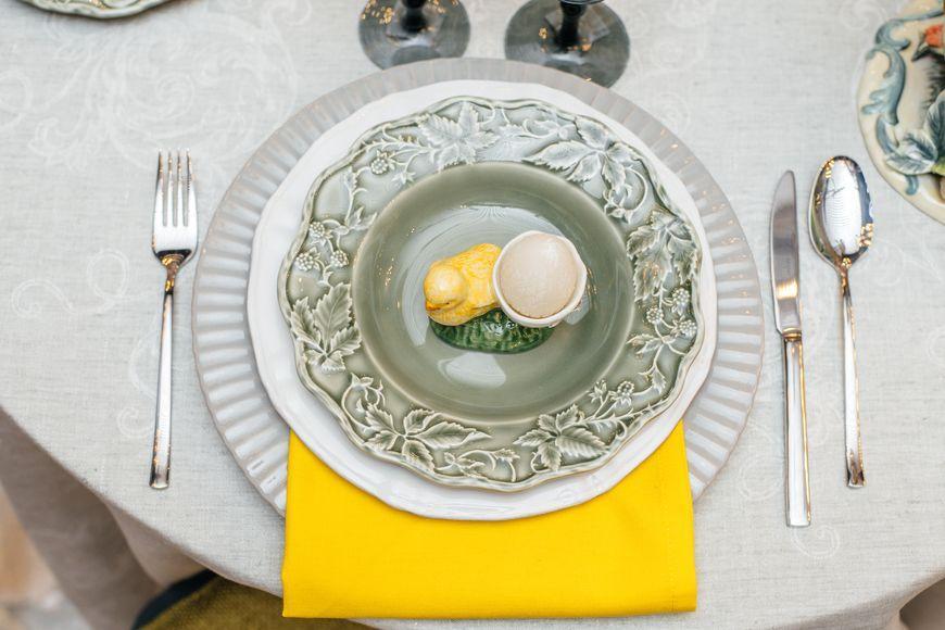 Блюдо серое Village  - фото
