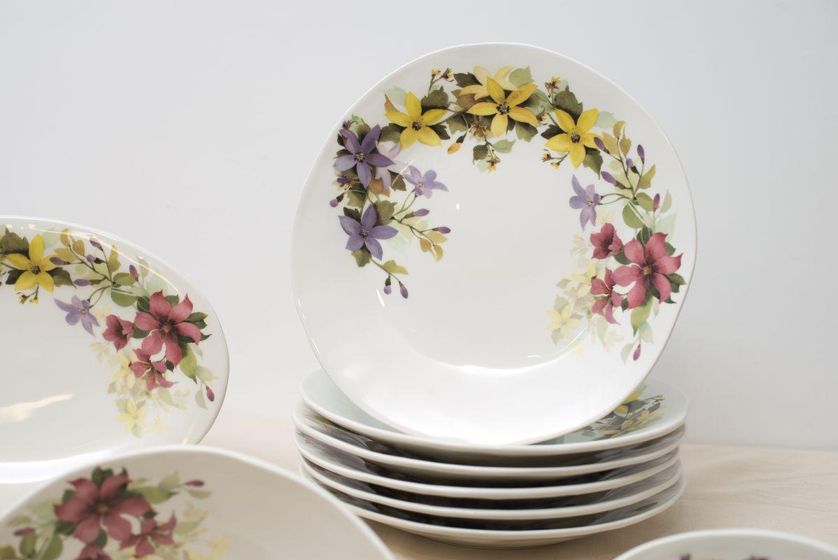 Сервиз столовый с романтическим рисунком «Цветочное настроение»  - фото