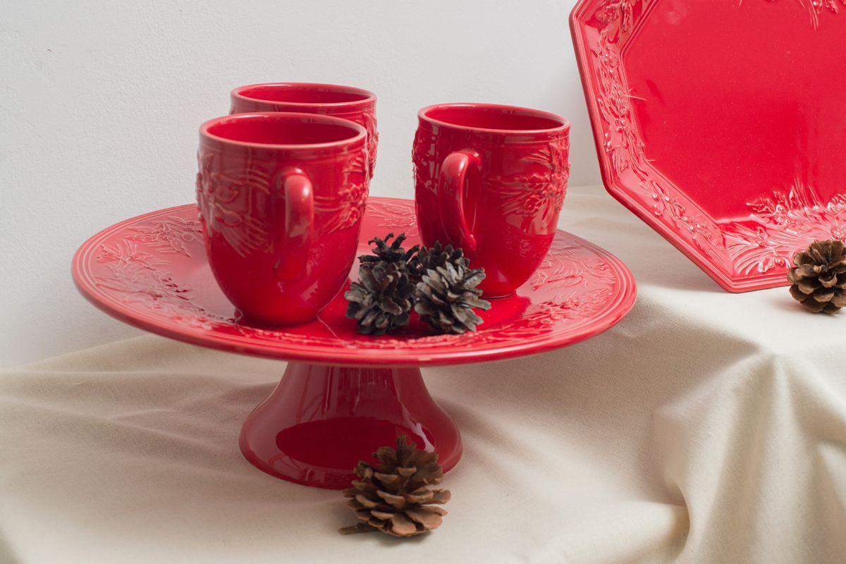 """Новогодняя чашка красная """"Зима""""  - фото"""