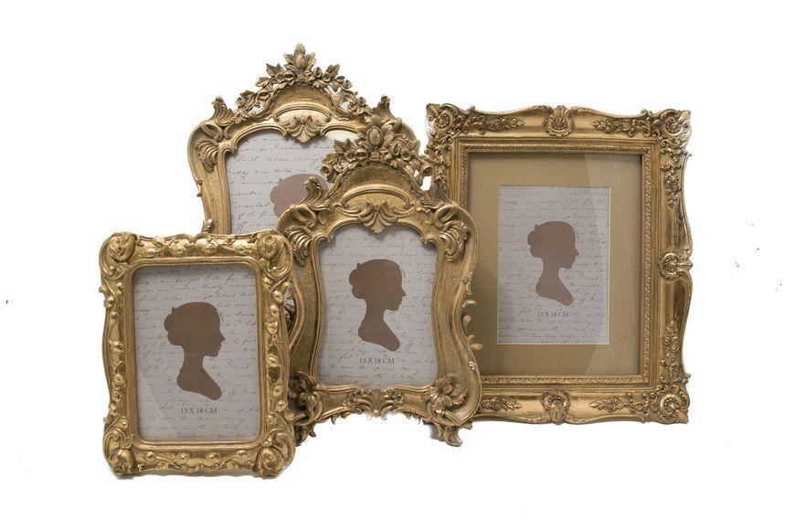 Настольная фоторамка с роскошным декором в стиле барокко  - фото