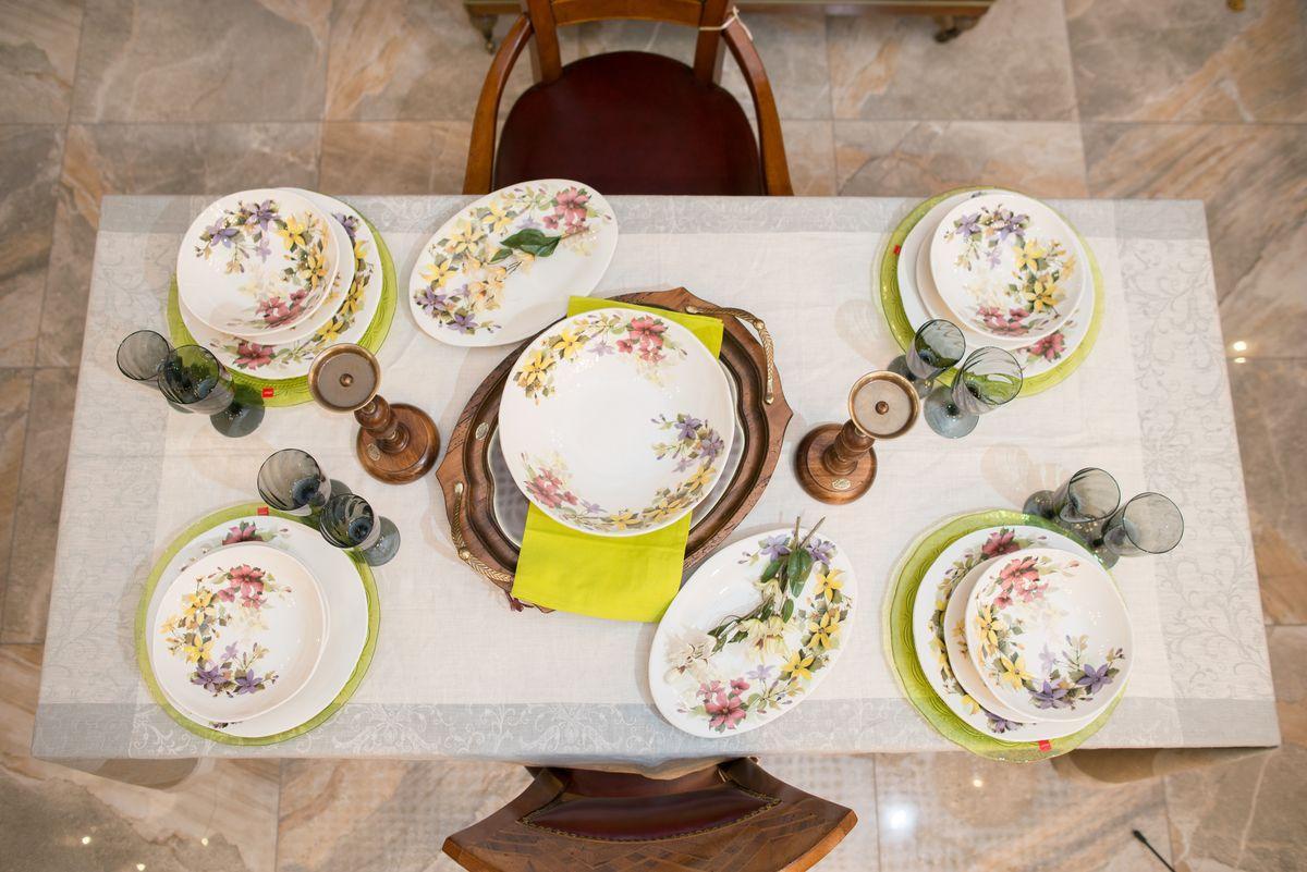 Овальное блюдо с красочным рисунком «Цветочное настроение»  - фото