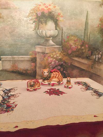 """Фото-отзыв пользователя к товару: Новогодняя салфетница """"Нарядный котенок"""""""
