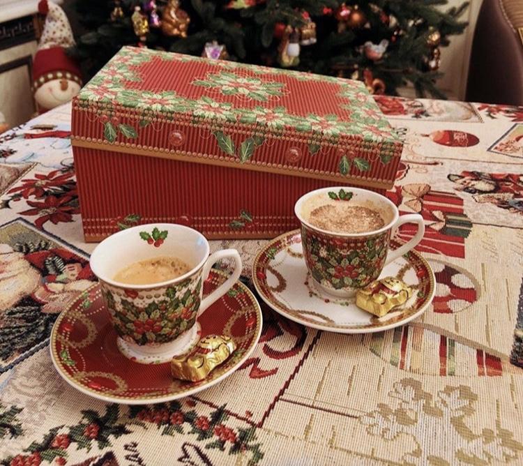 """Фото-отзыв пользователя к товару: Чашка для кофе с блюдцем, набор 2 шт. """"Исполнение желаний"""""""