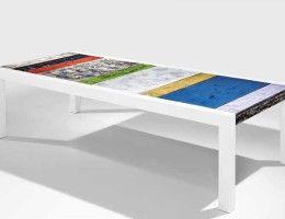 Уникальный природный материал: столы из вулканической лавы