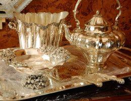 Новинки в коллекции Royal Family - изысканная посуда с посеребрением шеффилд