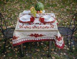 «Фруктовая осень» - сервировка дачного столика на террасе