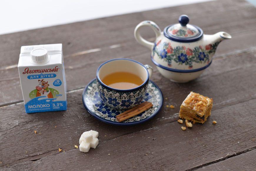 Как заварить чай на молоком