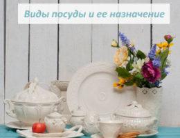Виды посуды и ее назначение