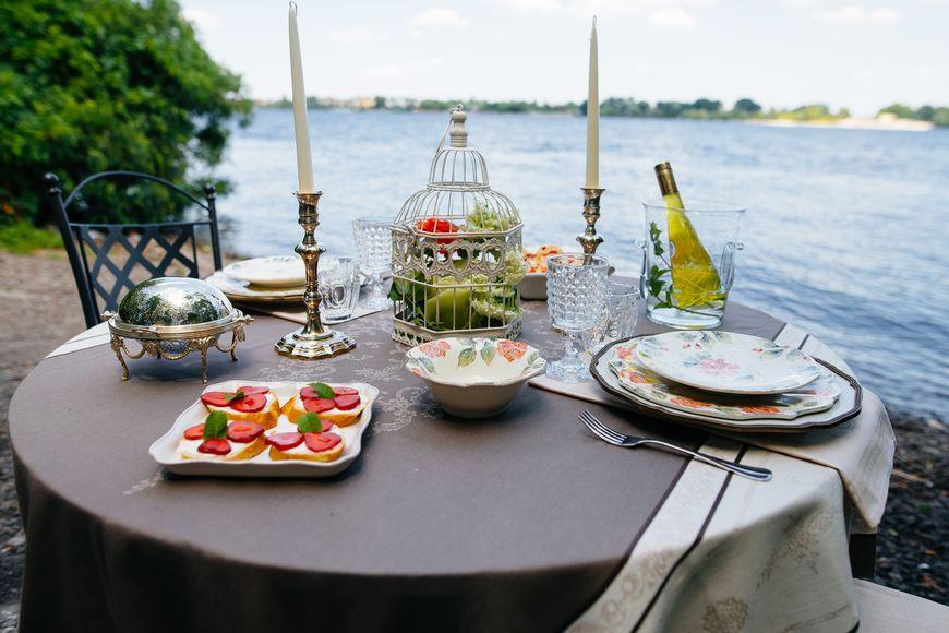 «Розовый рай» - изысканная сервировка с цветочными мотивами