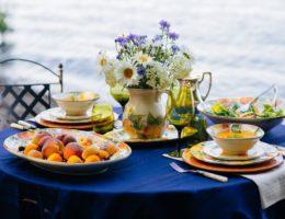 Летняя сервировка «Сочный персик»