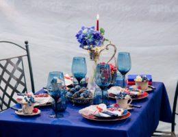 Сервировка «Синий вечер — гармония мироздания…» от Вербовик Галины