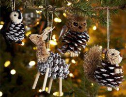 Наступил октябрь — идем в лес! Природный новогодний декор своими руками - 4 идеи, множество вариантов