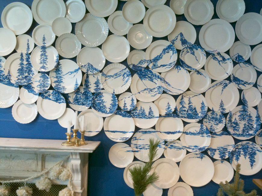 Красивые тарелки на стену купить