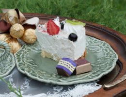 пример подачи десерта