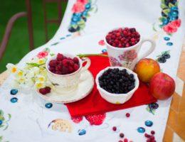 пример садовой сервировки