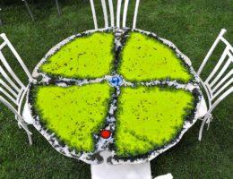 Каменная радуга для вашего интерьера — как создаются вулканические столы