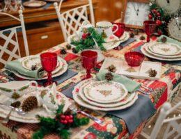 пример рождественской сервировки