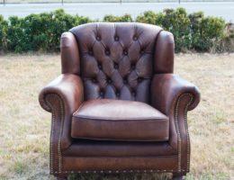 Кресло из натуральной кожи Ardingley