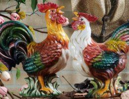 статуэтки петушков от Ceramiche Bravo