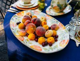 при мер подачи разных фруктов