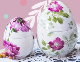 Праздничные композиции от декораторов Villa Grazia — пасхальная сервировка «Цветочное настроение»