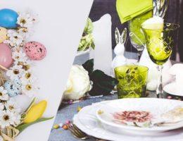 Пасхальное угощение на праздничной посуде — скидка 30% на красочную керамику