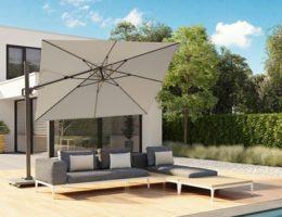 Новинки для вашего сада и двора – уличные зонты с поворотом на 360° Platinum