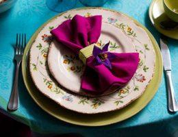 Летний привет от Villa Grazia – сервировка «Цветочная фантазия»