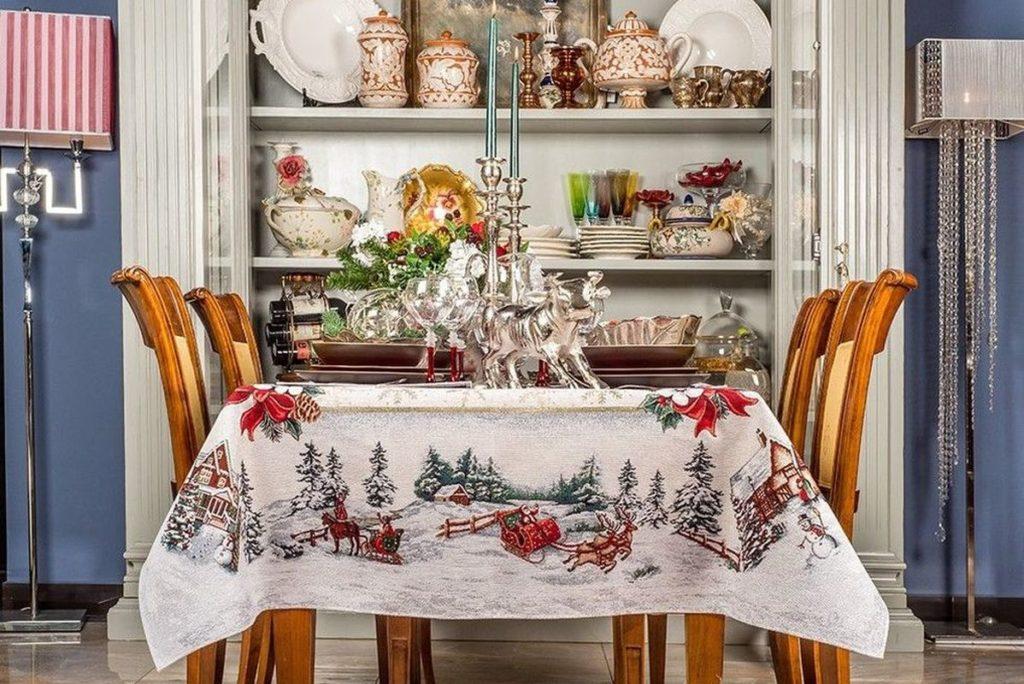Гобеленовый текстиль из коллекции «Снежные забавы»