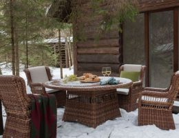 Хранение зимой садовой мебели из искусственного ротанга